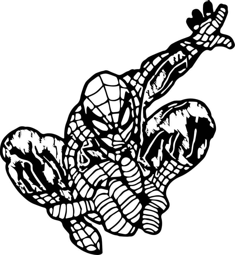 Spiderman Kleur Spider Man Coloring Page