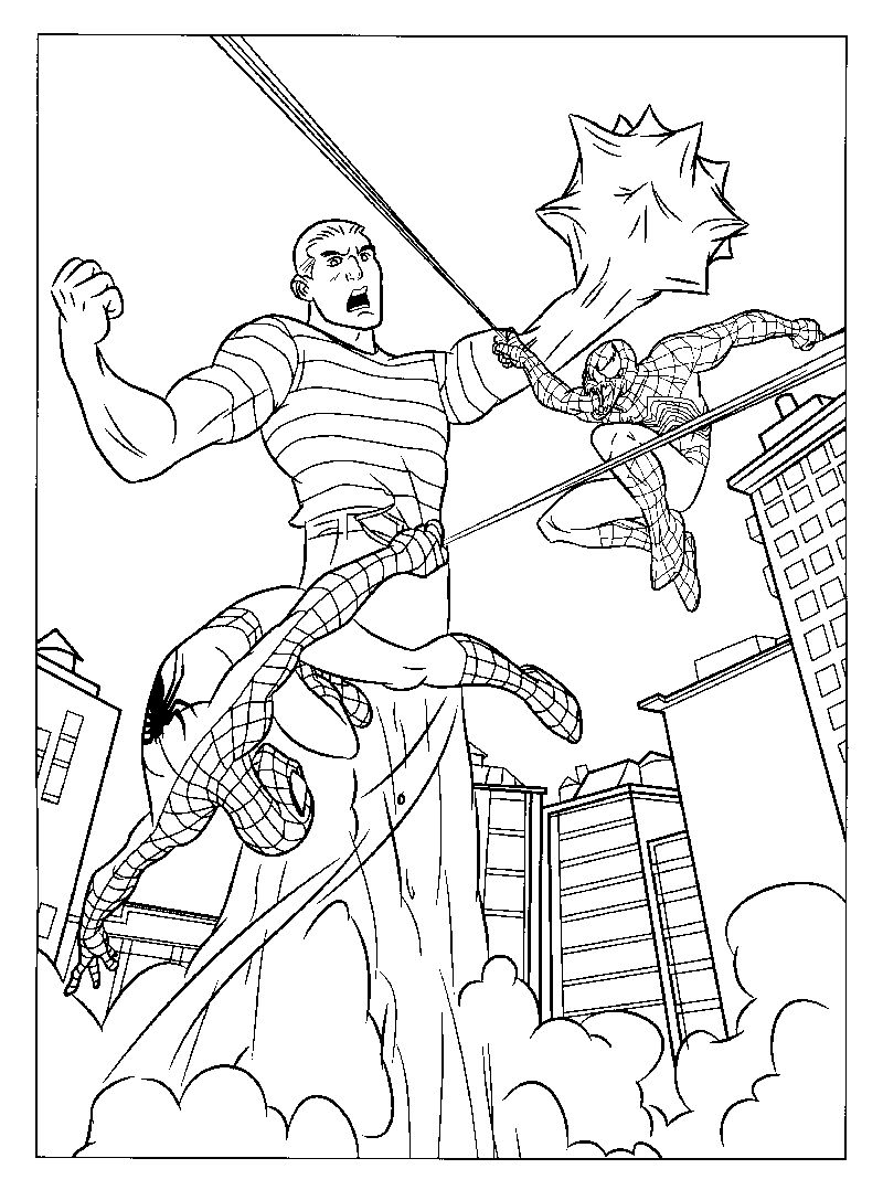 Spiderman Pages To Color