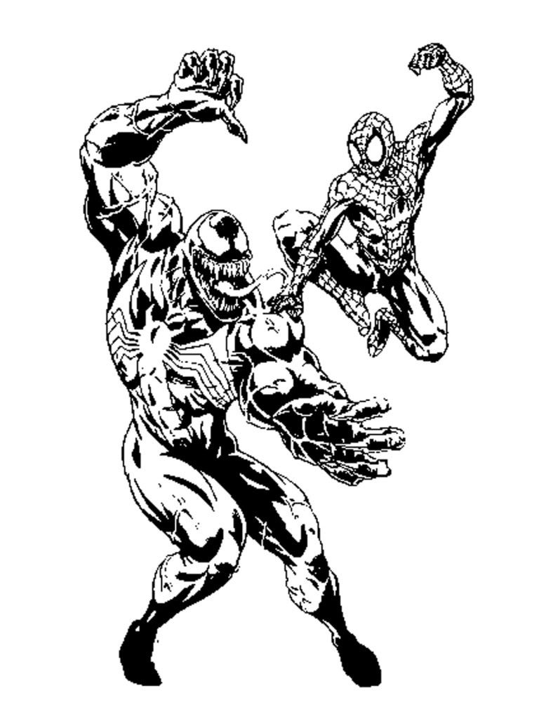 Spiderman Venom Coloring Pages 001