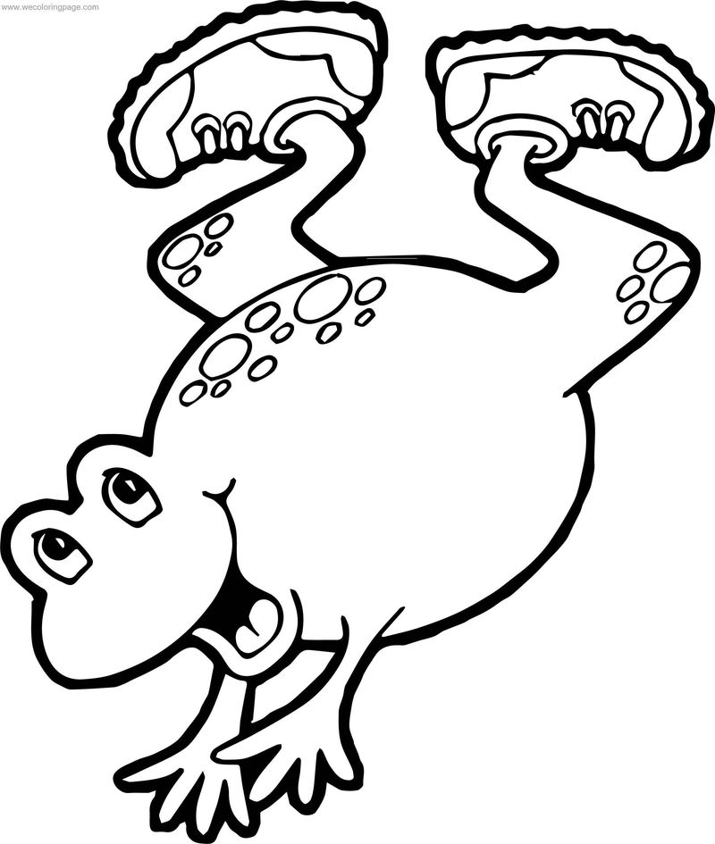 Sport Frog Coloring Page