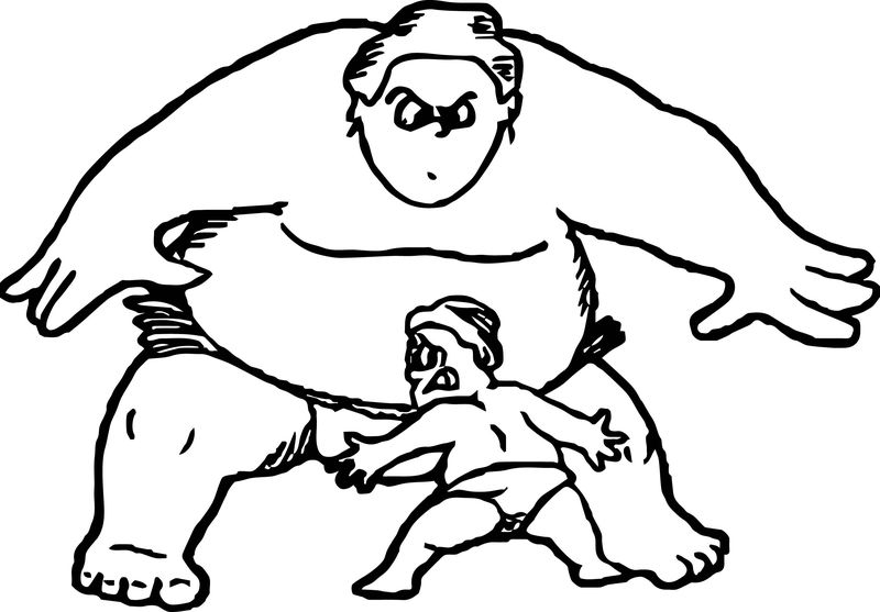 Sport Graphics Sumo Wrestling Coloring Page 001