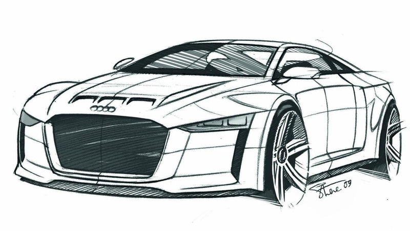 Sports Car Coloring Page Audi