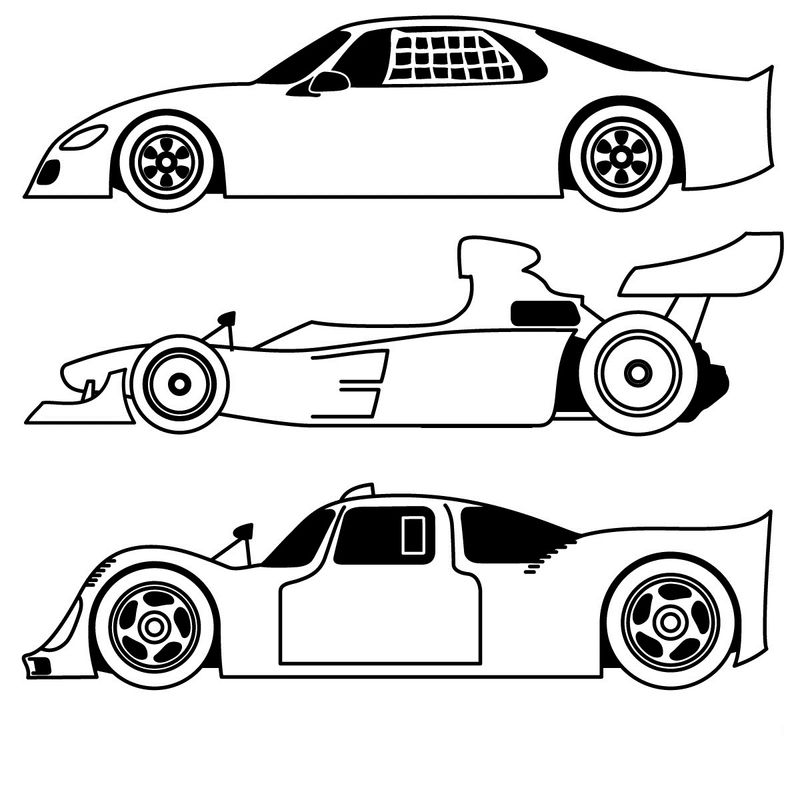 Sports Car Coloring Page Printables