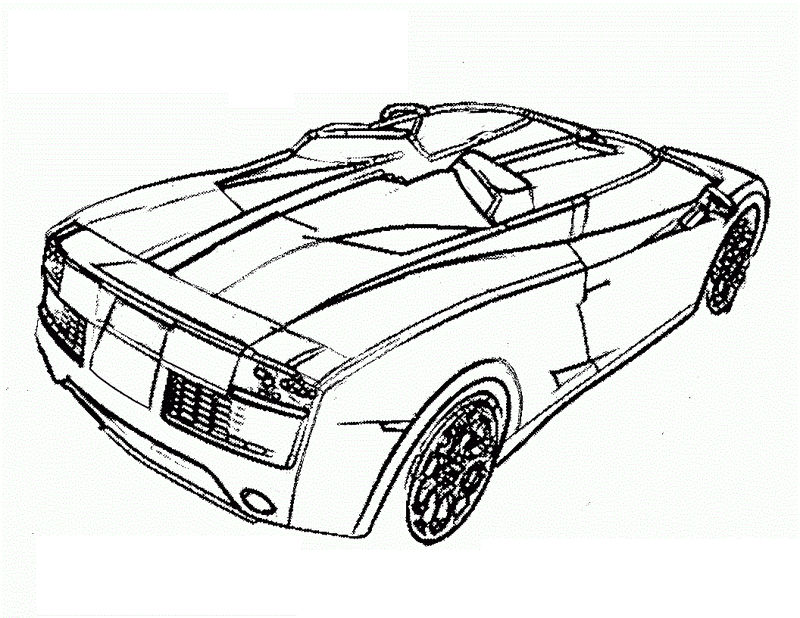Sports Car Coloring Pages 1