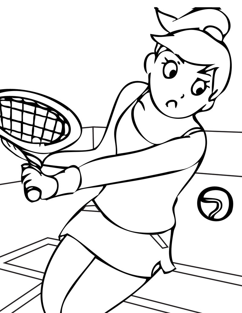 Sports Printable Coloring Pages