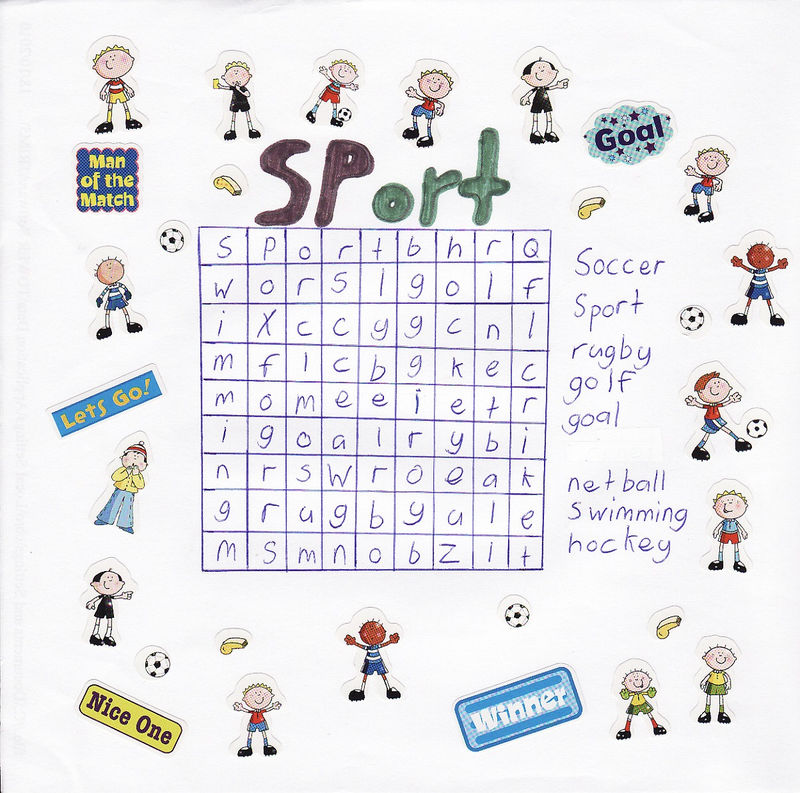 Sports Word Search Finds