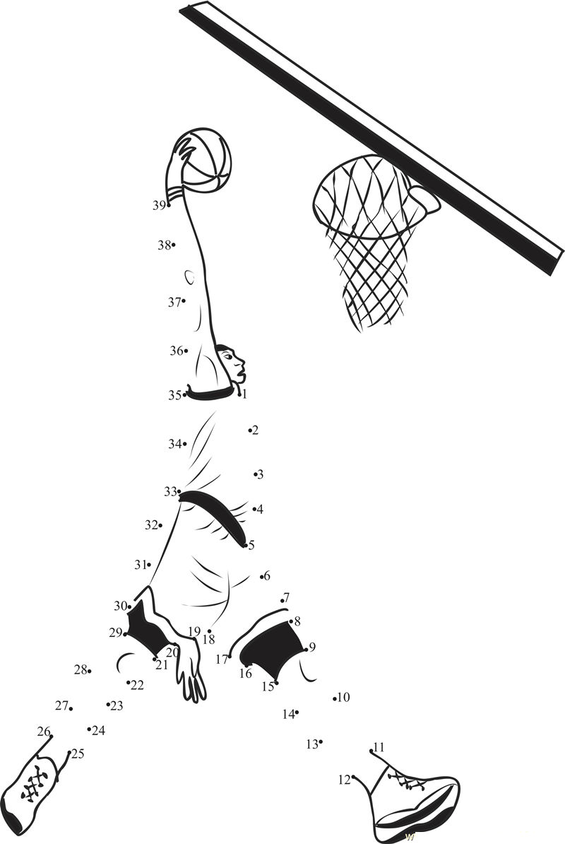 Sports Worksheets For Kids Dot To Dot 001