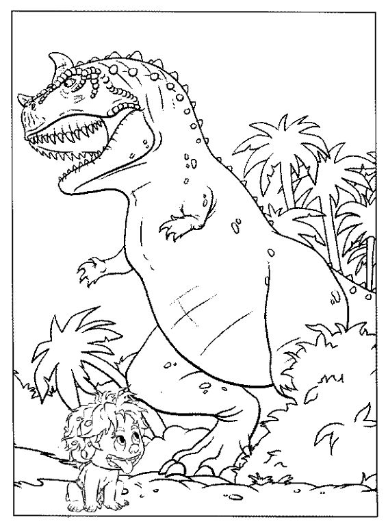 Spot And Butchan The Good Dinosaur Coloring Page