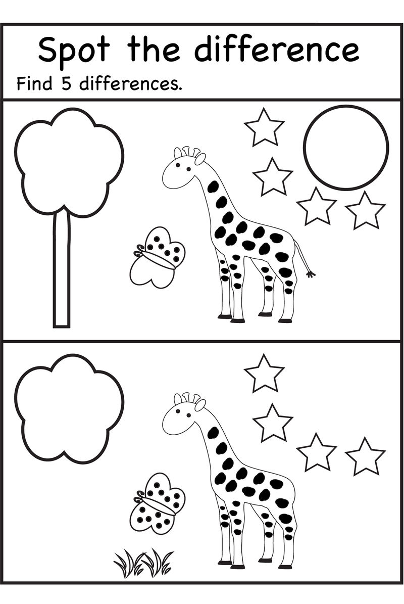 Spot The Difference Worksheets Animal