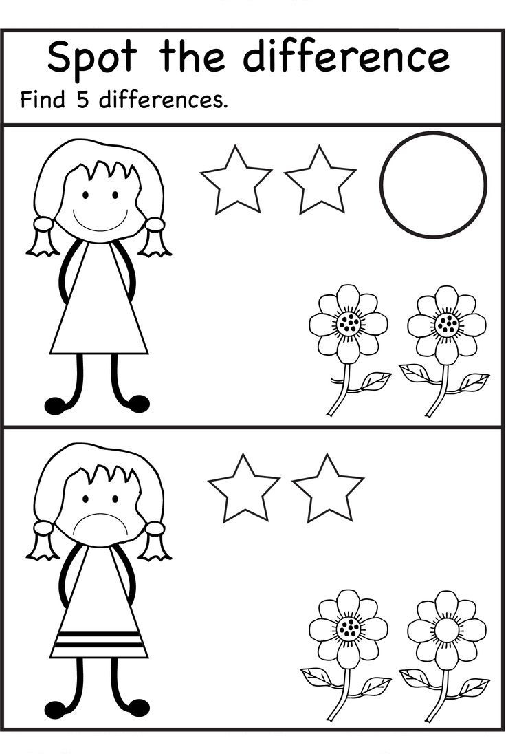 Spot The Difference Worksheets Easy