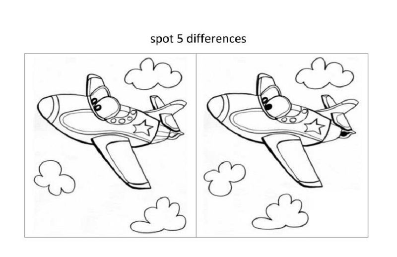 Spot The Difference Worksheets For Boy