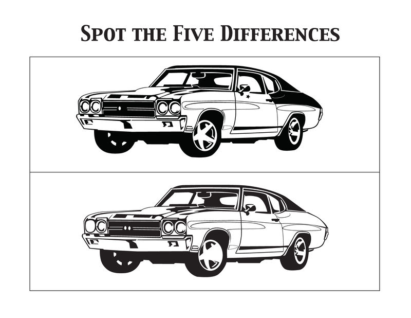 Spot The Difference Worksheets For Boys