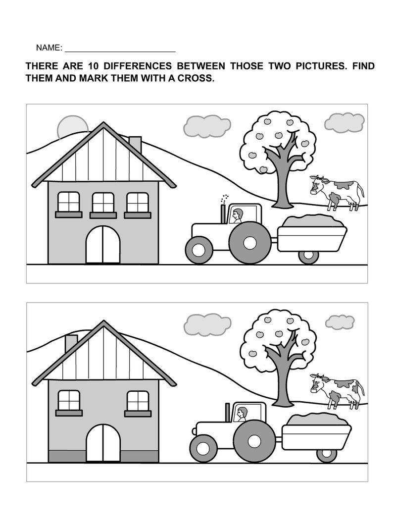 photograph about Find the Difference Between Two Pictures Printable titled Location The Change Worksheets For Pleasurable Totally free COLORING Web pages