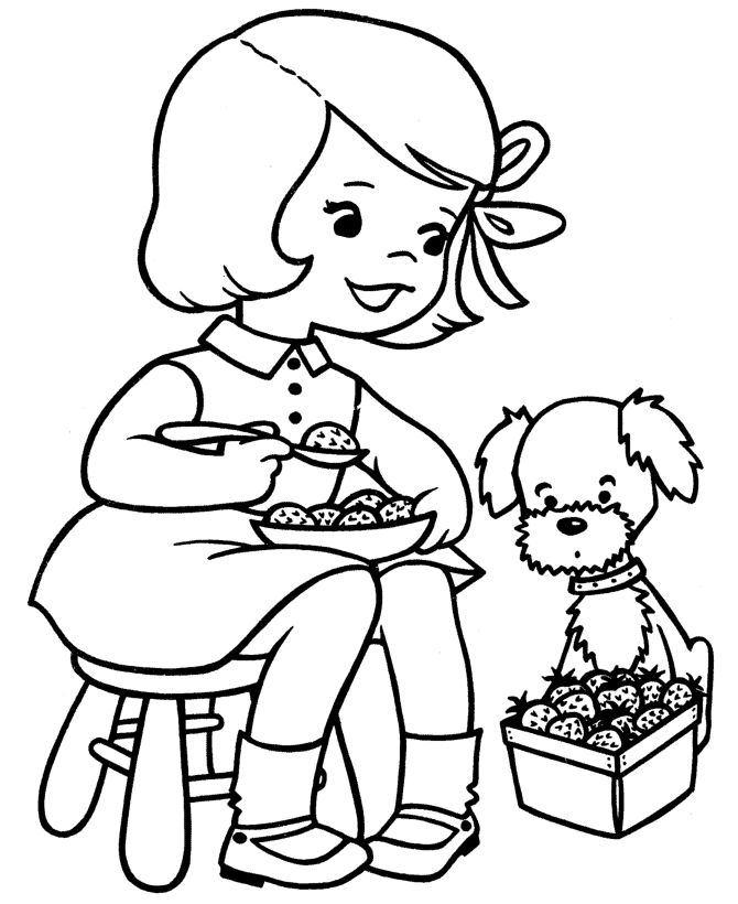 Spring Coloring Page 001