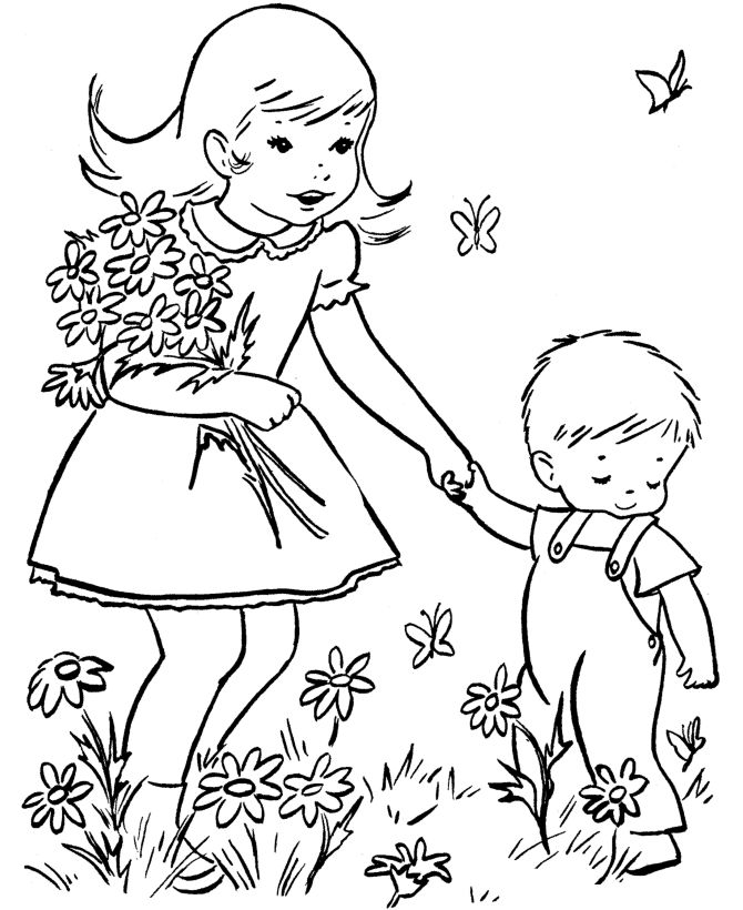 Spring Coloring Pages Printable 001