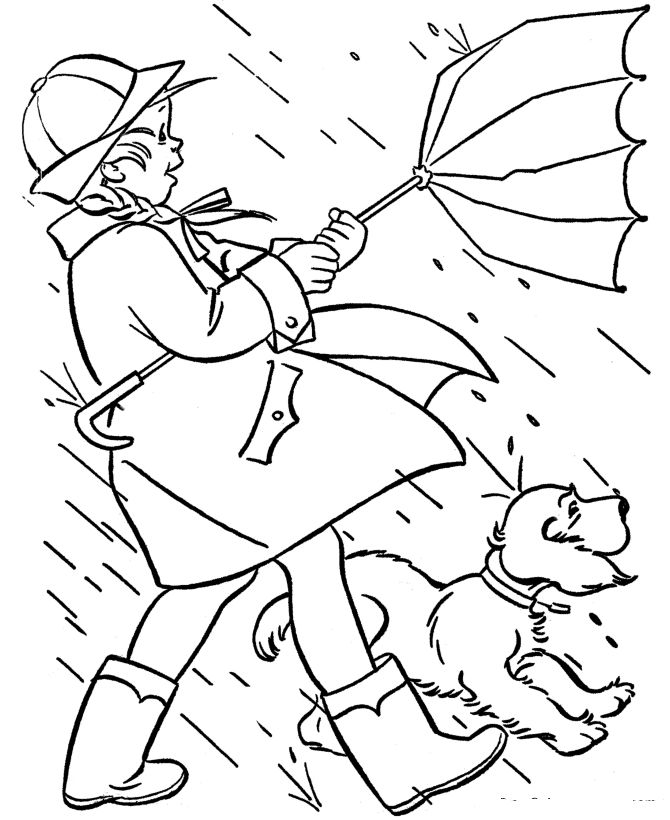 Spring Coloring Pages Spring Rains 001