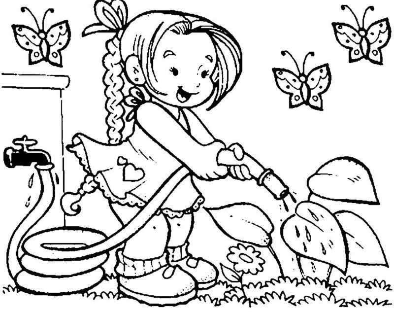 Spring Coloring Pictures 4