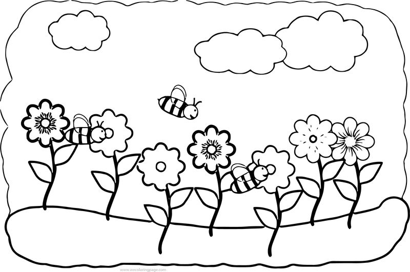 Spring Cute Spring Flower Coloring Page