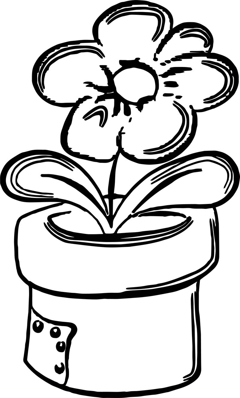 Spring Outdoor Flower Coloring Page