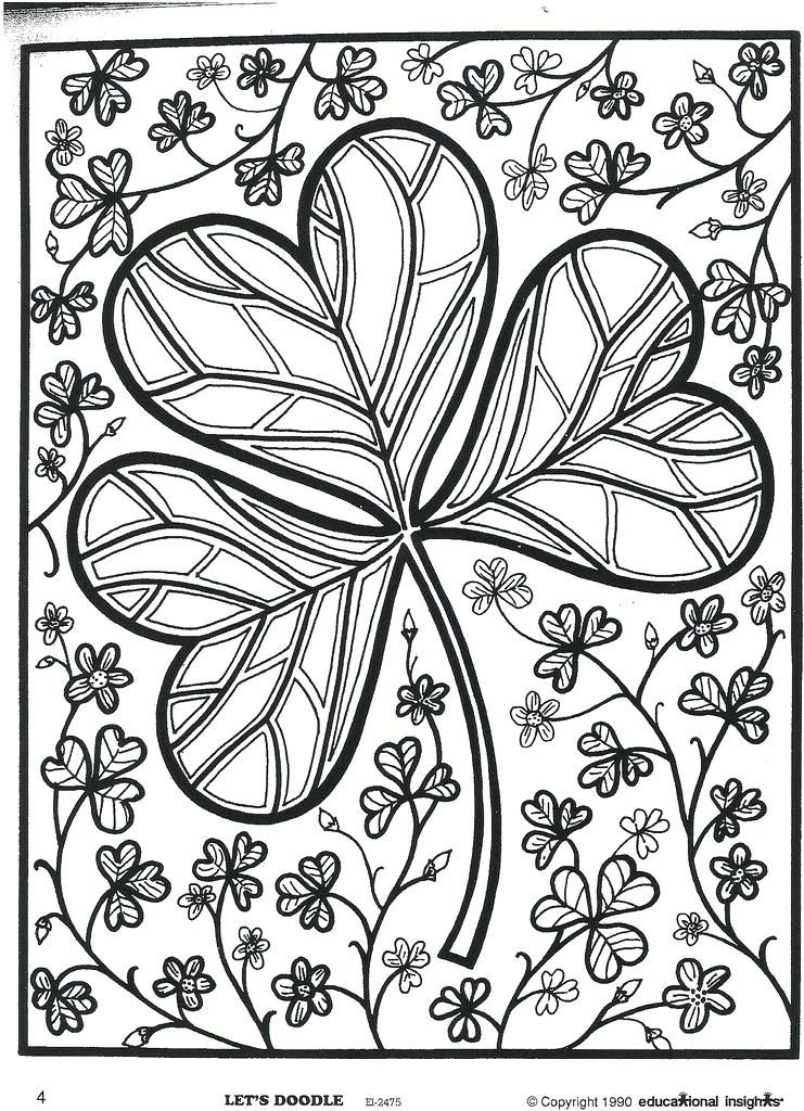 St patricks day coloring pages for adults