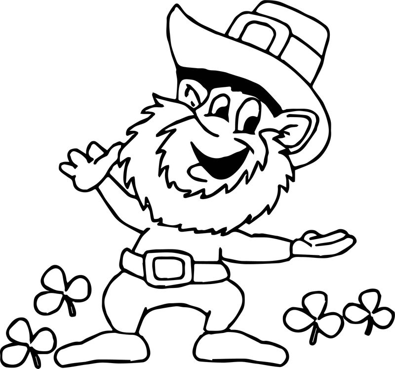 St Patricks Day Picture Saint Day Coloring Page