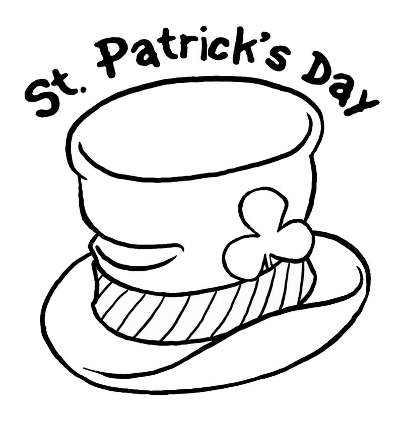 St Patricks Day Shamrock Coloring Pages