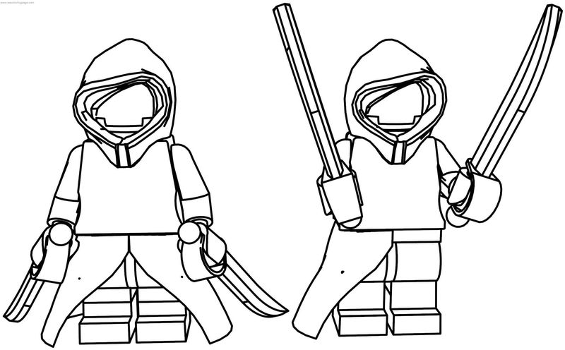 Star Wars Nightsister Lego Coloring Page