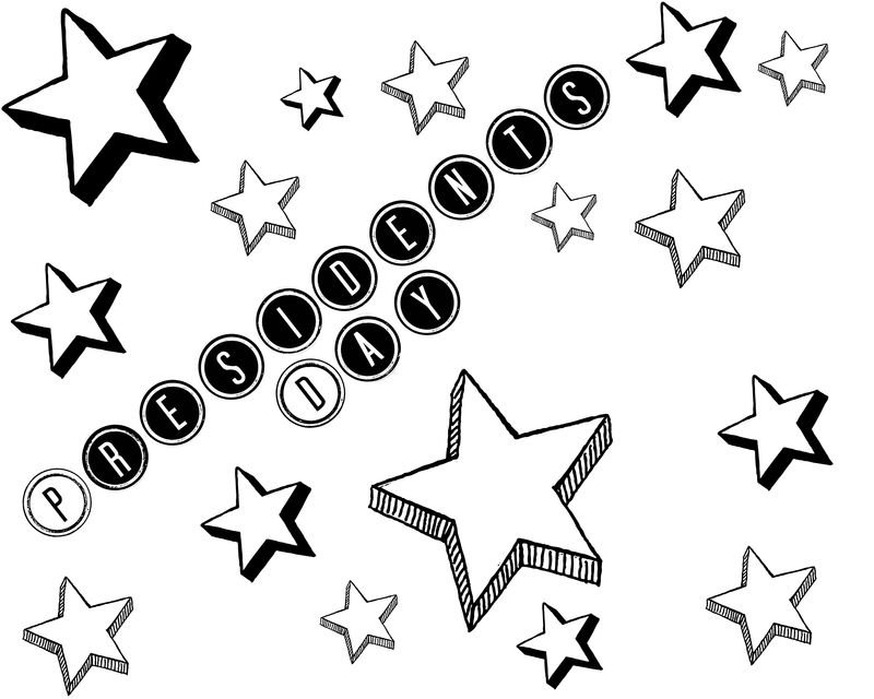 Stars Presidents Day Coloring Pages