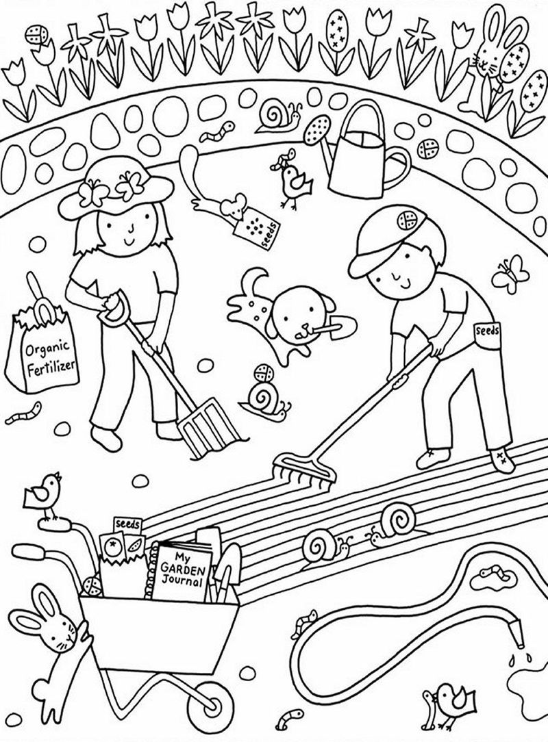 Starting A Garden Coloring Page