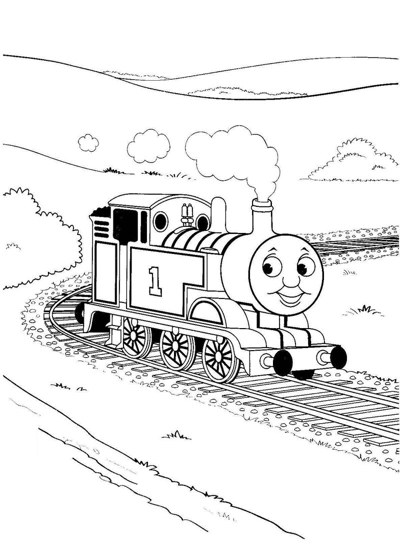 Steam Train Coloring Pages
