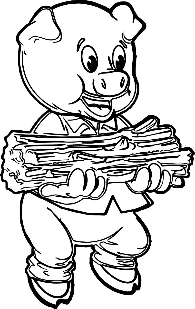 Stick Pig Coloring Page