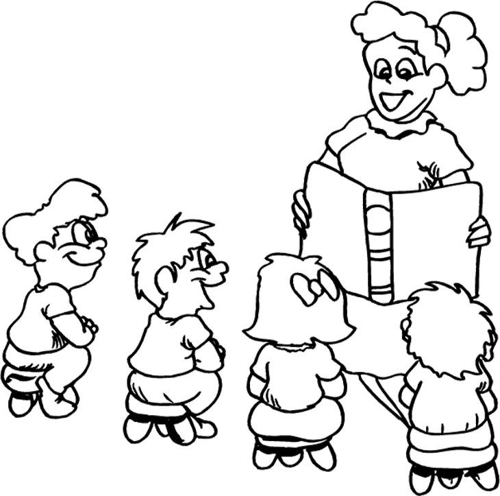 Students And Teacher Coloring Pages
