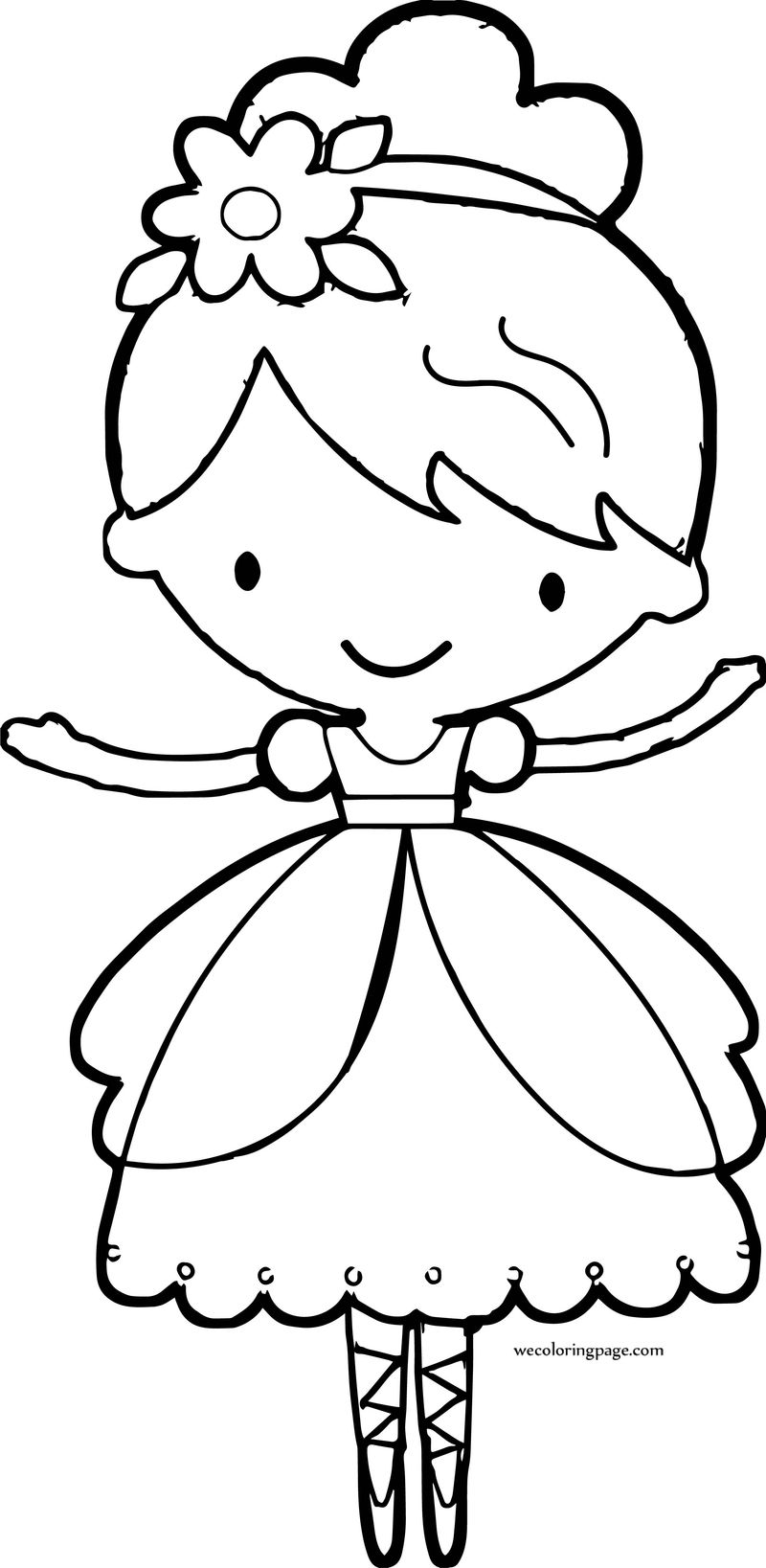 Style Princess Ballerina Coloring Page Free Coloring Pages