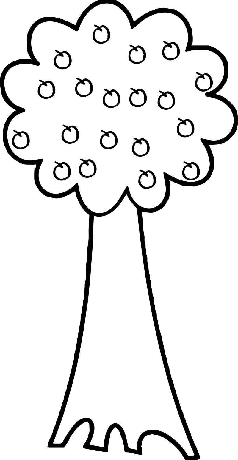 Successful Apple Tree Coloring Page