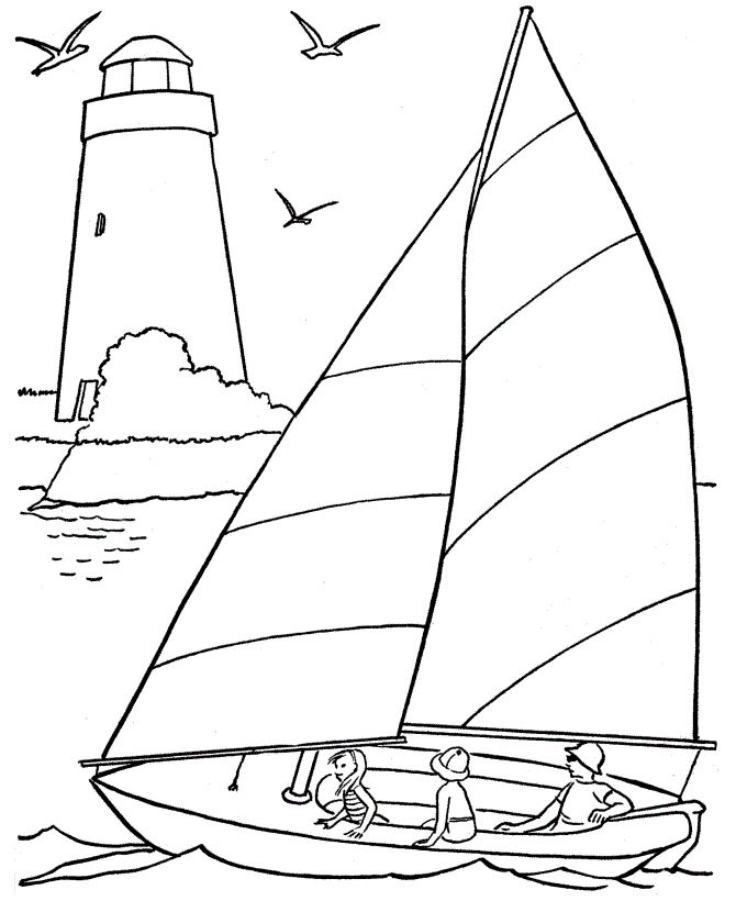Summer Beach Coloring Pages 001