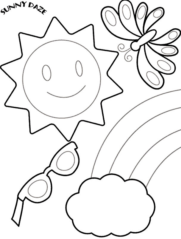 Summer Coloring Pages For Preschoolers