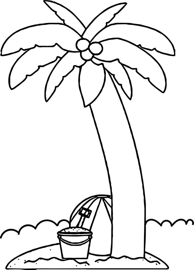 Summer Tree Coloring Page