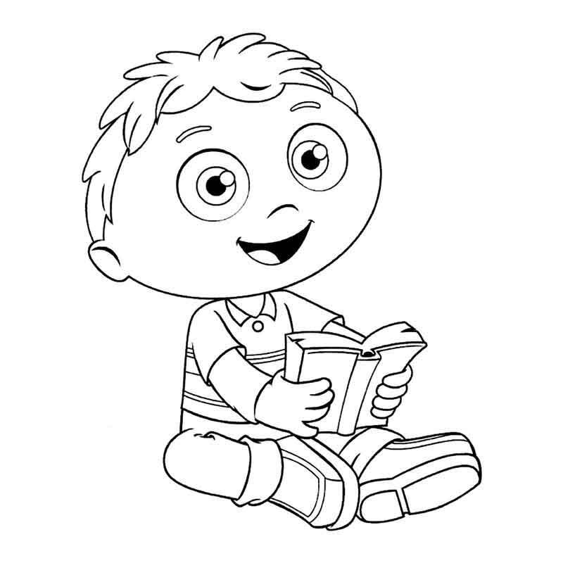Super Why Coloring Pages Wyatt