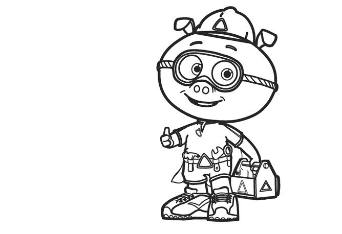 Super Why Coloring Pages Pig 001