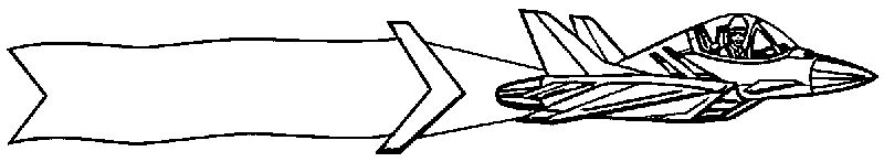 Supersonic Plane Banner Flies Pulls Coloring Page