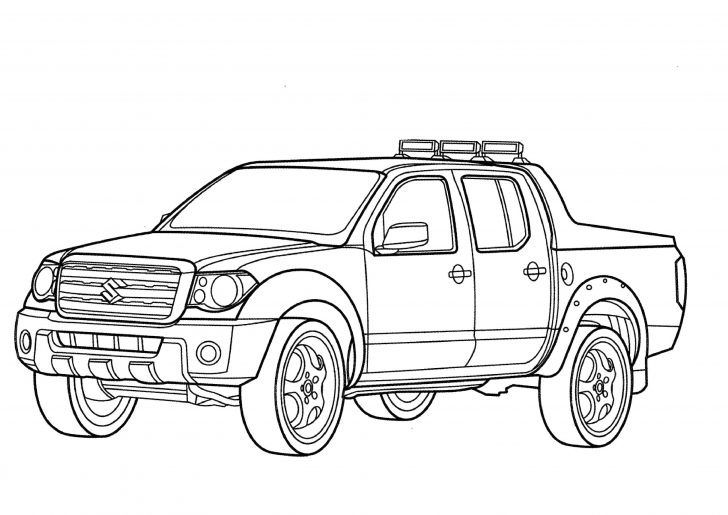 Suzuki Pick Up Truck Coloring Pictures