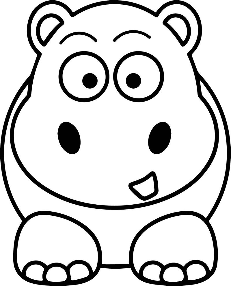 Sweet Elephant Coloring Page