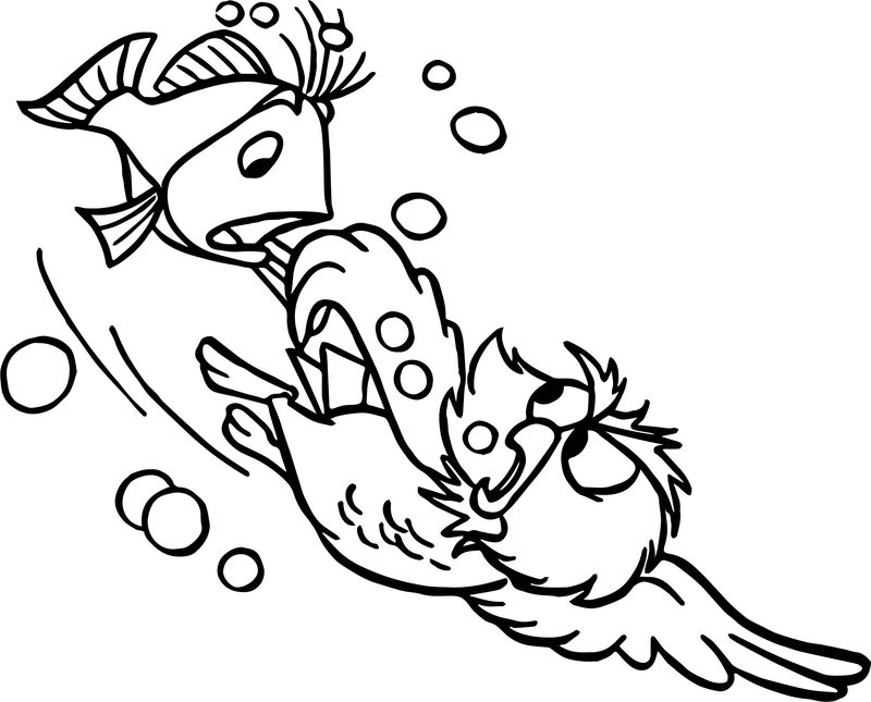 Swordin Stone Rescue And Fish Coloring Page