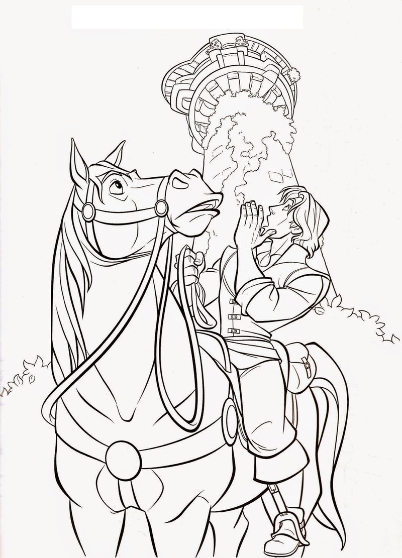 Tangled Printable Horse And Prince