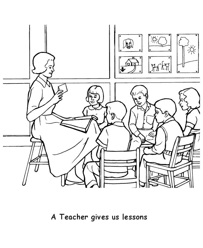 Teacher Coloring Pages Free
