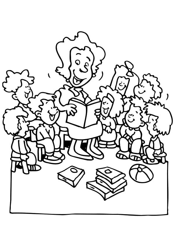Teacher Coloring Pages Printable