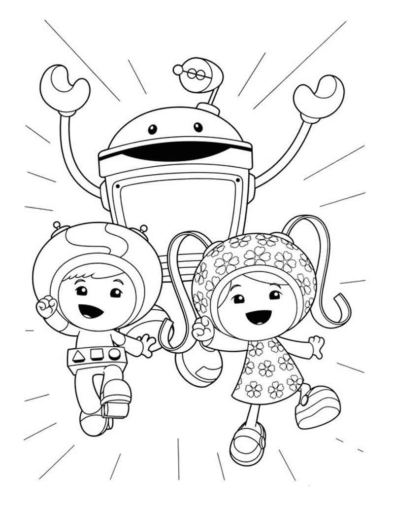 Team Umizoomi Coloring Page