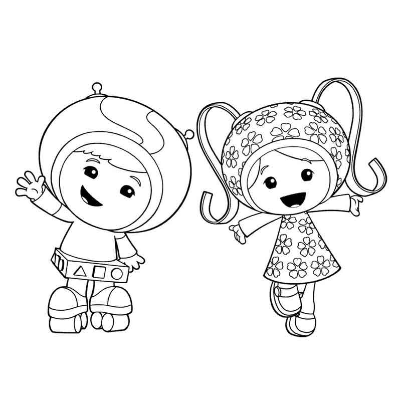 Team Umizoomi Coloring Pages Printable