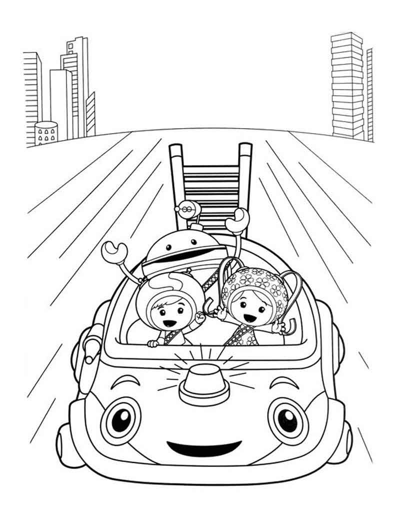 Team Umizoomi Umicar Coloring Pages