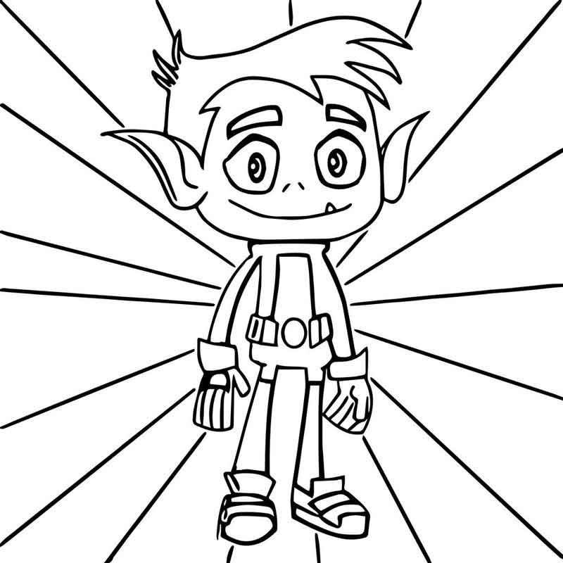 Teen Titans Coloring Pages Beast Boy